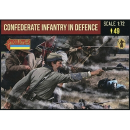 1/72 ACW Confederate Infantry in Defence (STR)