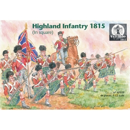 1/72 Napoleonic Highland Infantry In Square 1812 - 15 (WAT)