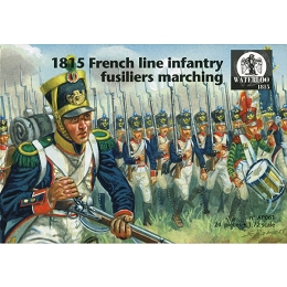 1/72 Napoleonic French Infantry 1815 Marching (WAT)