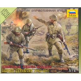 1/72 Soviet Infantry (1941-43) Box (ZVE)