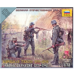 1/72 German Infantry (1939-42) Box (ZVE)