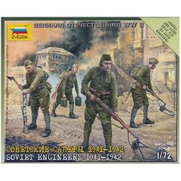 1/72 Soviet HQ Crew (1941-43) Box (ZVE)