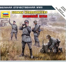 1/72 German HQ Crew (1939-42) Box (Zvezda)