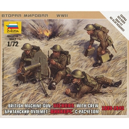 1/72 British Vickers Machine Gun Box (Zvezda)