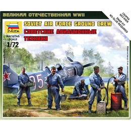 1/72 WW II Soviet Air Force Ground Crew (ZVE)
