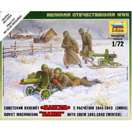 1/72 Soviet Maxim MG, 1941-43 Box (ZVE)