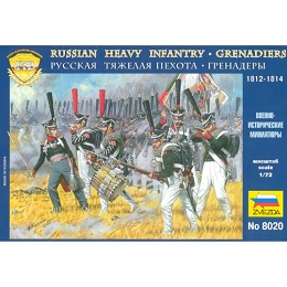 1/72 Napolonic Russian Heavy Infantry Grenadiers 1812-1814 (ZVE)