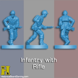 ''Battle Pieces'' - WW2 French Set (Light Blue)