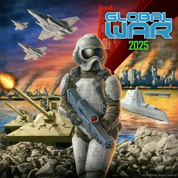 Global War 2025 Map Historical Board Gaming
