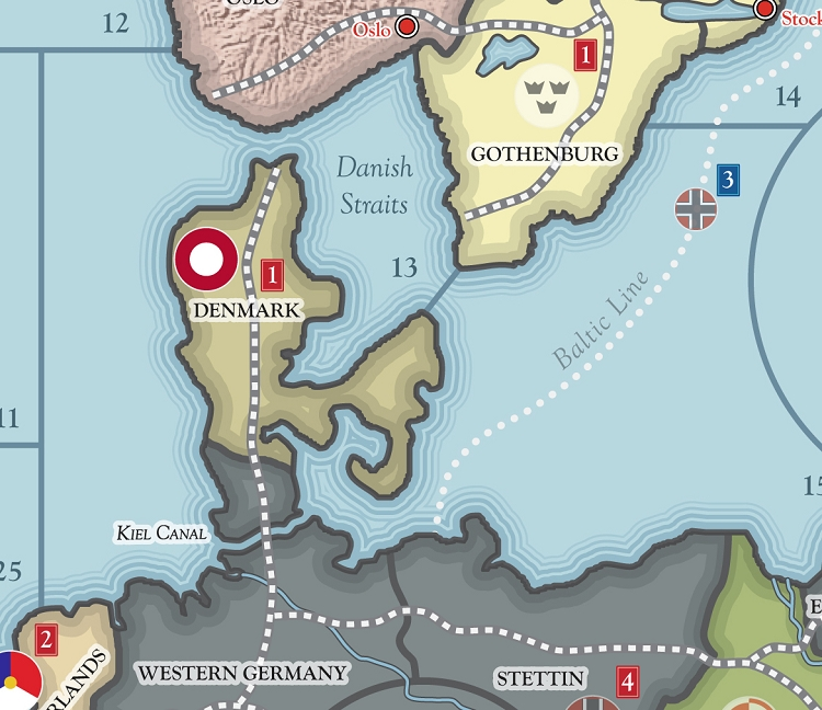 Global War 1936 Map Historical Board Gaming