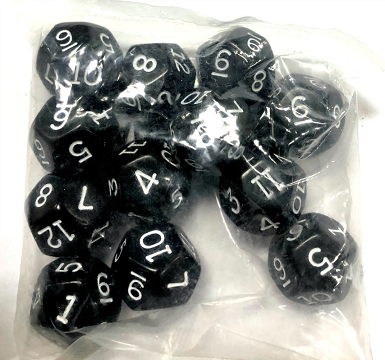 Sealed Bag D12 Dice