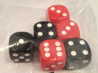 Europe/Pacific 40 Sealed Bag Dice (16mm)