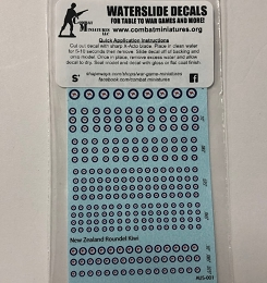 AUS-001 Decal Sheet-Australia & New Zealand Roundels