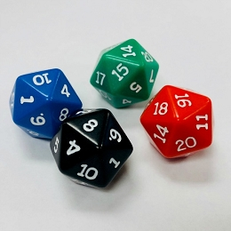 D20 (16mm) Opaque Die (x One)