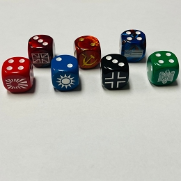 Opaque 16mm Custom Dice w/ Rounded Corners (xONE)