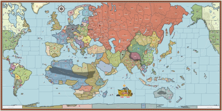 Global War 1936 Map (Historical Board Gaming)