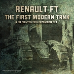 Tank: Ft-17  WW1 French (3d Printed) x5