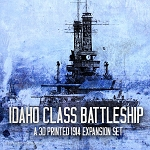 Battleship: U.S. Idaho -WW1 (3d Printed) Green