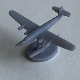 CANT Z.511 w/Stand Aircraft - 3D Printed (x ONE)