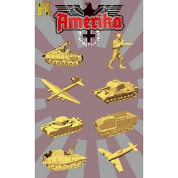''Battle Pieces'' - Amerika Set (Yellow Gold) Pre-Order