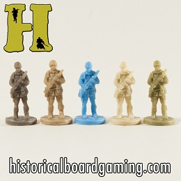 ''Battle Pieces'' - Allies - Airborne Infantry (x5)