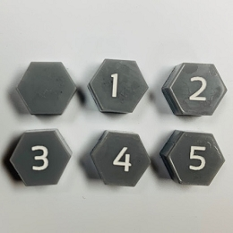 HBG Hex Bunker Marker (Acrylic) x5