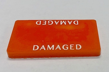 HBG Damaged Marker-Rectangular (Acrylic) x5