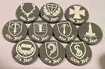 HBG German Jager Division Unit Markers - (Set of 10) Acrylic