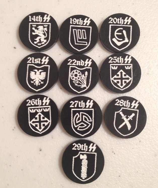 HBG SS Division Markers Set 3 (Acrylic)