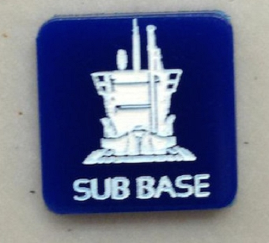 HBG Submarine Base (Acrylic) X5