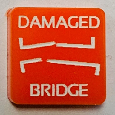 HBG Damaged Bridge Marker (Acrylic) x5
