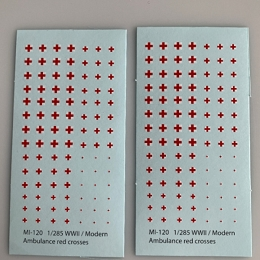 Mi-120 Decal Sheets, Ambulance Red Cross