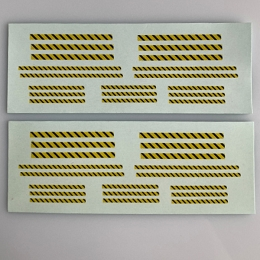 SF-101 Decal Sheet, Yellow/Black Warning Stripes, Locos, Armor & Aircraft