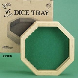 Wooden Dice Tray -Hex