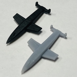 Saenger Silverbird Bomber 3D Printed (x ONE)