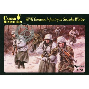 1/72 WWII German Infantry in Winter Smocks Box (Caesar)