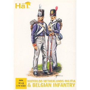 1/72 Waterloo Netherlands Militia & Belgian Infantry (48) (Hat)