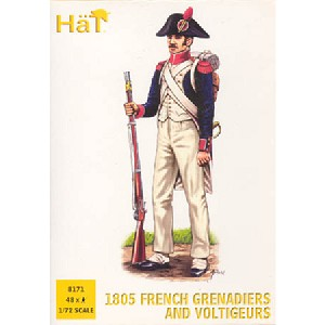 1/72 1805 French Grenadiers & Voltigeurs (48) (Hat)