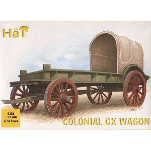 1/72 Colonial Ox Wagon (3 Sets: Wagon, 2 Oxen & 2 Figs) (Hat)