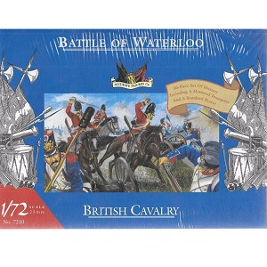 1/72 Waterloo British Cavalry (Hussars) Box (Accurate Figures)