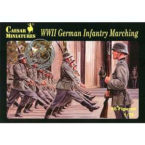 1/72 WWII German Infantry Marching Box (Caesar)