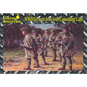1/72 WWII German Army w/ Camouflage Cape Box (Caesar)