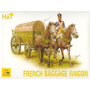 1/72 Napoleonic French Horse Drawn Baggage Wagon (3 sets) (HaT)