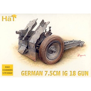 1/72 WWII German 7.5cm IG18 Gun Box (HaT)