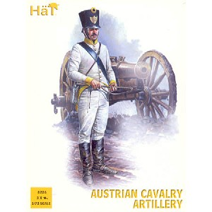 1/72 Napoleonic Austrian Cavalry Artillery (6 w/12 Horses & 3 Cannons) (HaT)