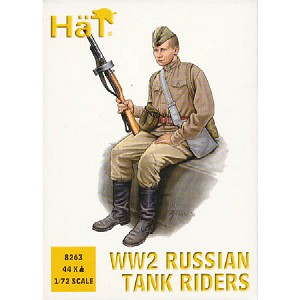 1/72 WWII Russian Tank Riders (44) (HaT)