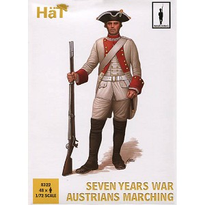 1/72 7 Years War Austrians Marching (48) (HaT)