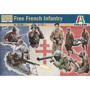 1/72 Free French WW2 Infantry Box (Italeri)