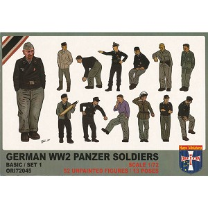 1/72 German WWII Panzer Soldiers (Basic Set 1) Box (Orion)