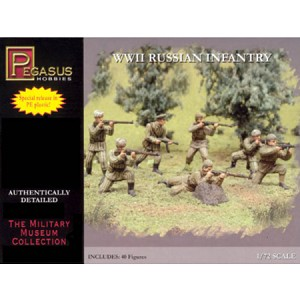 1/72 WW2 Russian Infantry (Summer/Winter) Box (Pegasus)